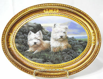 Westie plate In the Heather Franklin Mint by Nigel Hemming numbered