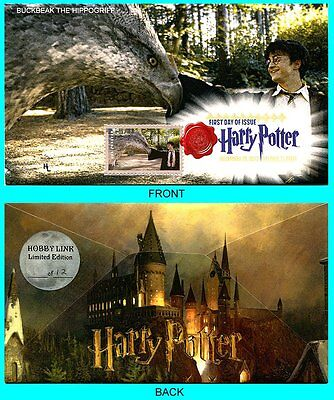 Harry Potter Buckbeak The Hippogriff  First Day Cover with Color Cancel Type 1