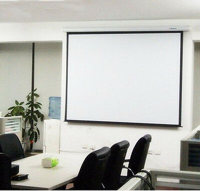"""120"""" Electric Motorized Remote Projection Screen Movie Projector Black 16:9"""