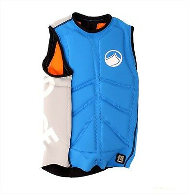 Liquid Force Cardigan Comp Wakeboard Impact Vest, Small, Blue White, 48876