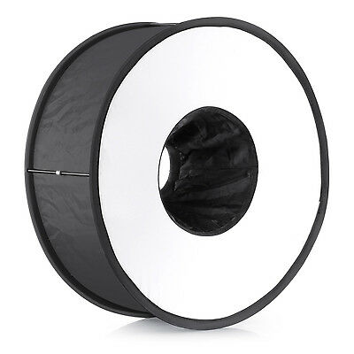 "Neewer 18""/45cm Round Universal Collapsible Ring Flash Diffuser Soft Box UD#15"