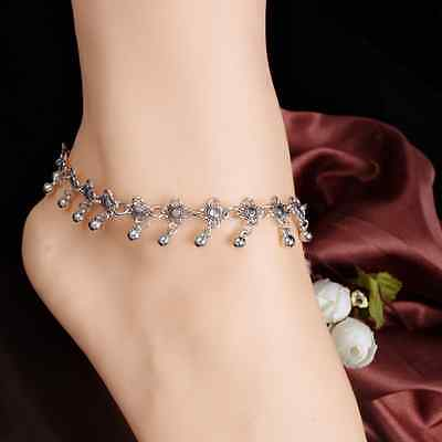 Hot Anklet Silver Bead Chain Ankle Bracelet Barefoot Sandal Beach Foot Jewelry