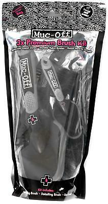 Muc-Off Motorcycle Brush Set 3 Pieces 55mm 35mm Claw Ultra Stiff Nylon Bristle