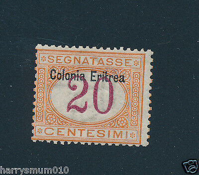 Italy stamp collection Colonies Eritrea postage due  20 c MNH SA