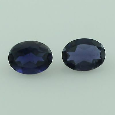 Iolite 1.90 Ct Pair Of Blue 6X8 Mm Oval Shape Facete Cut 100% Natural Gemstone