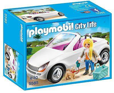 Playmobil Convertible with Woman and Puppy 5585