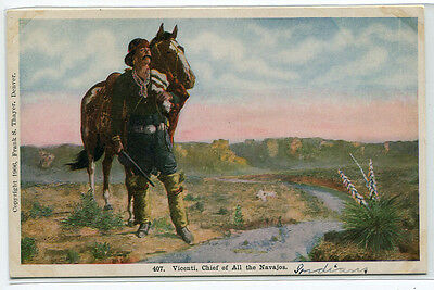 Vicenti Chief of All Navajos Native American Indian 1910c postcard