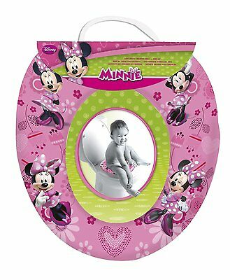Cute Disney Minnie Mouse Pink Kids Padded Toilet Seat Soft Potty Training