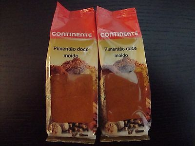 2 SEALED BAGS OF PAPRIKA FROM PORTUGAL ** 3,52 OZ / 100 GR (overall) **