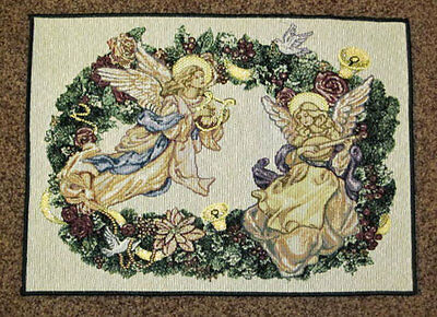 Angel Wreath Christmas Tapestry Placemat