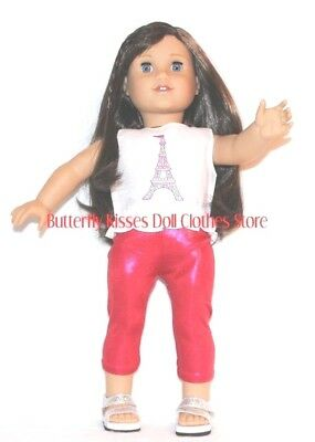 Eiffel Tower Blouse+Leggings 18 in Doll Clothes Fits American Girl