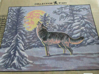 Collection D'Art Needlepoint Canvas Your Choice Horse/Wolf/Flowers-11.75x15.75 I