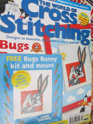 World Of Cross Stitching UK Magazine September 1999-#23 & Kit-Bugs/Penguin A