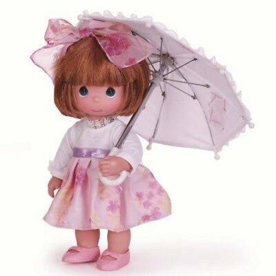 Precious Moments 12 Inch Vinyl Doll, 'Shower Me With Love', Auburn, New, 4784