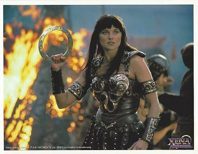 XENA 8.5x11 FAN CLUB PHOTO LITHOGRAPH ~ LUCY LAWLESS