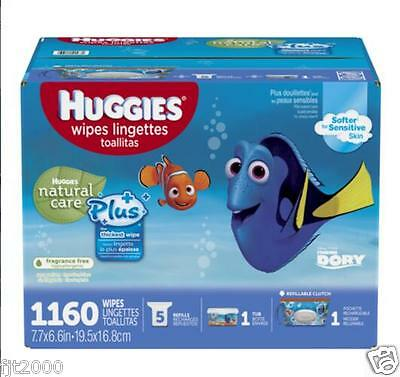Huggies Natural Care® Plus Baby Wipes 1,160 Ct. Fragrance-Free, FREE SHIPPING