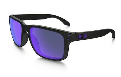 OAKLEY HOLBROOK OO9102-26 Julian Wilson Matte Black Violet Iridium AUTHENTIC NEW