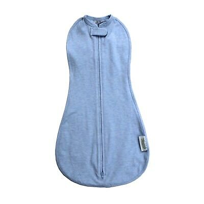 Woombie Original Dream On Blue - Hip Healthy Baby Swaddle/Zip Up Baby Wrap