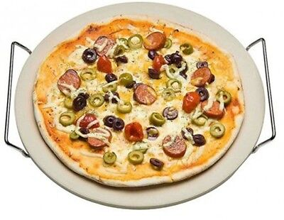 33cm Pizza Stone With Rack Oven To Table Serving Traditional Pizza Ceramic Stone