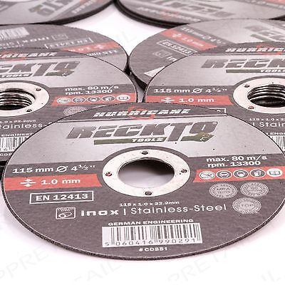 25 PACK 115mm ANGLE GRINDER CUTTING DISC Slitting Thin 1mm For Inox Metal/Steel