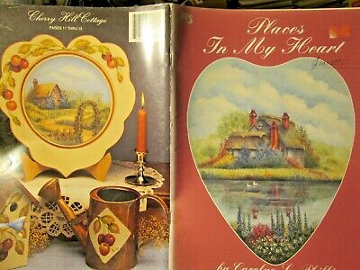 Places In My Heart Painting Book -Phillips-Cottages Framed by Leaves/Cherries/Do