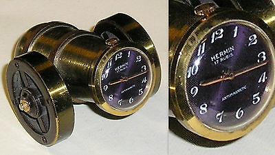 Vintage watch Orologio a cannoncino Hermin 17 rubis antimagnetic