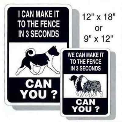 """AKITA """"3 Second Fence"""" Sign   NEW"""