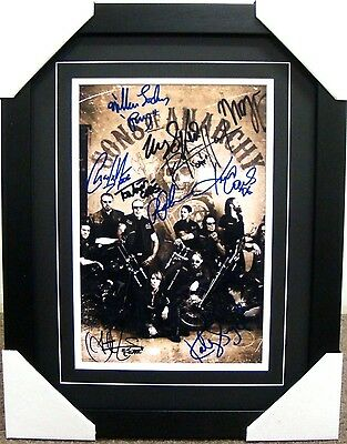 Sons Of Anarchy Signed Frame  Charlie Hunnam Ron Perlman