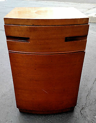 Antique Vintage Art Deco Night Stand Cabinet 1 Draw 1 Door Pick Up Only NJ ✞