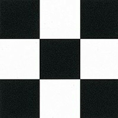 Vinyl Flooring Covering Black and White Classic Checked Tile Floor Look 1m Wide