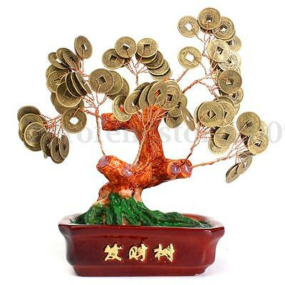 Chinese Money Tree Coin Buddhist Blessed  Feng Shui Fortune Lucky Home Decor