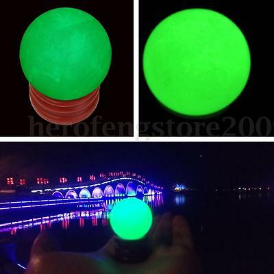 35*35MM Glow In The Dark Luminous Stone Quartz Crystal Sphere Ball w/Base Stand