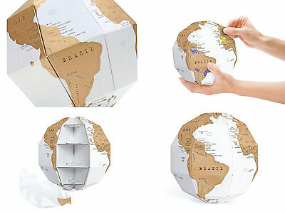 Jigsaw Puzzles Learning Atlas Paper Building Block World Travel Map Scratch Luck