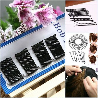 Lots Black Invisible Hair Clips Flat Top Bobby Pins Grips Salon Barrette 60Pcs
