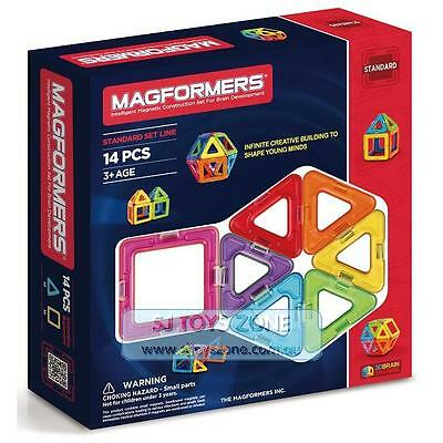 Magformers 14 Pieces Set Educational Shapes 3D Brain Development Magnetic Buildi