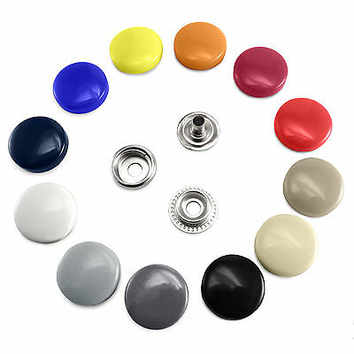 17 mm Plastic Cap Poppers Snap Fasteners Press Studs Sewing Clothing Buttons B3A