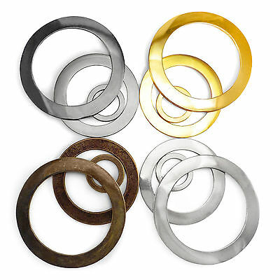 Large solid cast wide O rings metal bags collars craft 30 66 83 mm