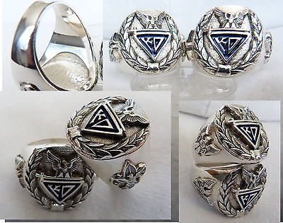 The Knights of Dunamis Boy Scout Ring Silver 925