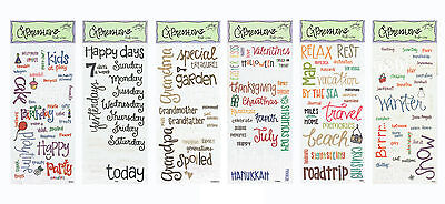 Junkitz Expressionz Word Rub-ons Grandparent/Days/Travel/Winter/Birthday/Holiday