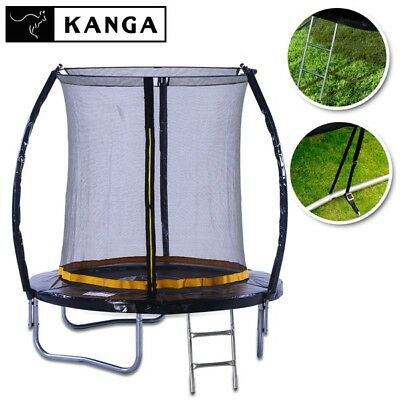 KANGA 6ft Trampoline With Enclosure, Net, Ladder, Winter Cover & Shoe Bag