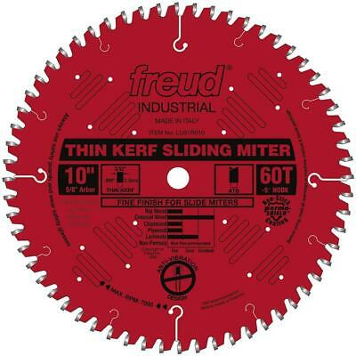 Freud LU91R010 10-Inch 60-TPI Carbide Thin Kerf Sliding Compound Miter Saw Blade