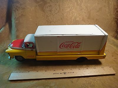 "1950's Battery Operated ""Yellow"" Route Truck for Coca Cola - Free S&H USA"