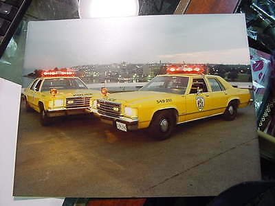 very nice original photograph  kingston police cruiser from 1980s ford