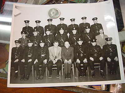very nice original photograph  kingston police early 1950s  group shot