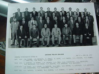 very nice original photograph  kingston police 1972 ontario police college