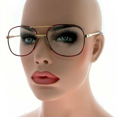 1dc327e6334 80 s Vintage Retro Aviator Metal Gold Frame Clear Lenses Men Women  Eyeglasses
