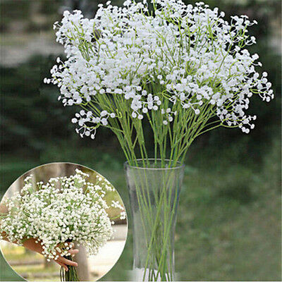 2Pcs Artificial Baby Breath Gypsophila Silk Flowers Bouquet Wedding Party Decor