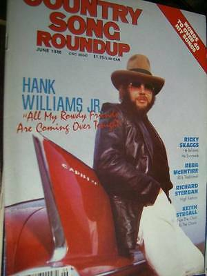 Country Song Roundup Magazine June 1986 Hank Williams Jr/Ricky Skaggs/ Reba McEn