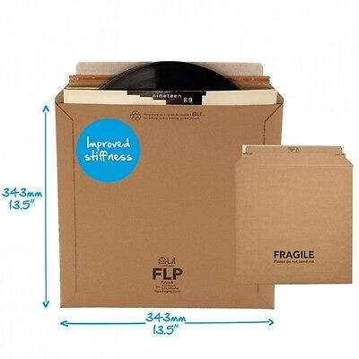 """NEW VERY STRONG Record Mailers. Kraft corrugated board 12""""/LP/33rpm FLP Envelope"""