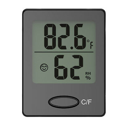 Baldr Wall Desk Mini Car Digital Thermometer Temperature Humidity Hygrometer C/F